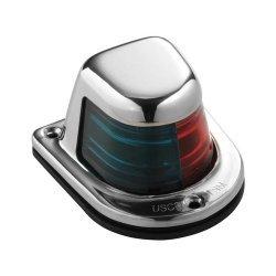 ATTWOOD BI-COLOR LIGHT 12V RED GREEN W/ STAINLESS HOUSING 66318-7