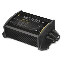 Minn Kota Boat On Board Battery Charger Marine Mk-315D 3 Bank X 5 Amps