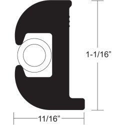 Taco Flex Vinyl Rub Rail Kit 1 1/16 Black White V11-0809Bwk50-2
