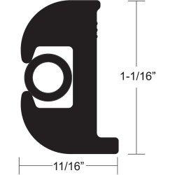 Taco Flex Vinyl Rub Rail Kit 1 1/16 Black on Black V11-0809Bbk70-2