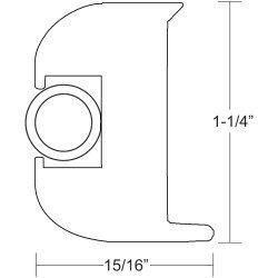 """Taco Flex Vinyl Rub Rail Kit 1 1/4"""" White W/White Insert V11-3447Wwk50-2"""