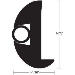 Taco Flex Vinyl Rub Rail Kit 1 7/8 Black With Black Insert