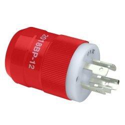 Marinco 2018Bp-12 Locking Charger Plug (Male) - Red