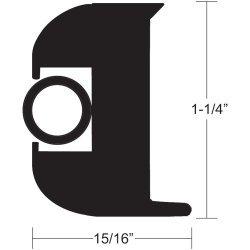 """Taco Flex Vinyl Rub Rail Kit 1 1/4"""" Black W/Black Insert V11-3447Bbk70-2"""