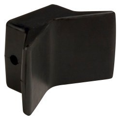 """C.E. Smith Bow Y-Stop - 4"""" x 4"""" - Black Natural Rubber"""