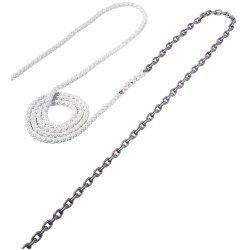 "Maxwell Anchor Rode - 15'-1/4"" Chain to 150'-1/2"" Nylon Brait"