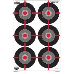 Birchwood Casey Dirty Bird 12inX18in Multi Bullseye-100 Pck