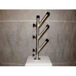Triple Vertical Stack Tree Fishing 3 Rod Holder GLP-014 Aluminum