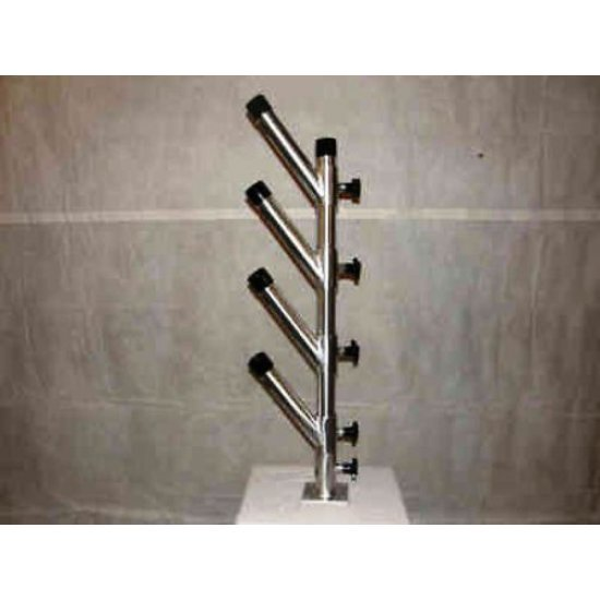 Great Lakes Planers Quad Vertical Tree 4 Fishing Rod Holder